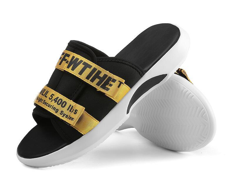 designer slides ow brand of the white men s designer slippers summer