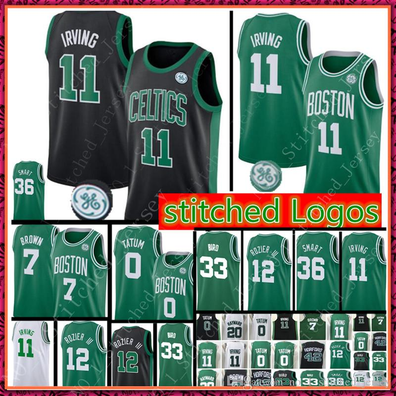 46083ff6921d ... where can i buy 2018 11 kyrie irving 7 jaylen brown new boston celtics  jersey 0