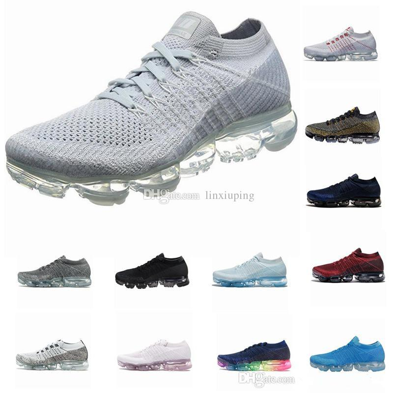 discount the cheapest cheap price wholesale price Vapormax Men Women Classic Outdoor Casual Shoes Vapor Black White Sport Shock Jogging Walking Hiking Sports Athletic Sneakers Size 36-45 ev9FMbt