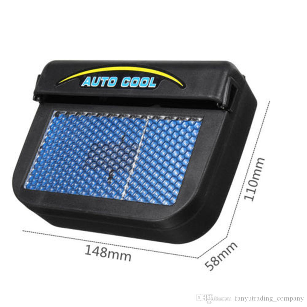 2019 Solar Powered Car Window Windshield Auto Air Vent Cooling Fan Cooler Radiator Fast