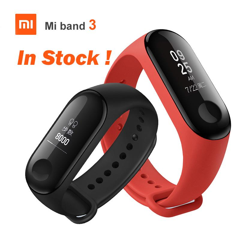 1db1ec6b396 Original Xiaomi Mi Band 3 Smart Miband3 Bracelet Heart Rate Fitness Watch  0.78 Inch OLED Display 20 Days Standby Band2 Upgrade Fit Wristband Fitness  ...