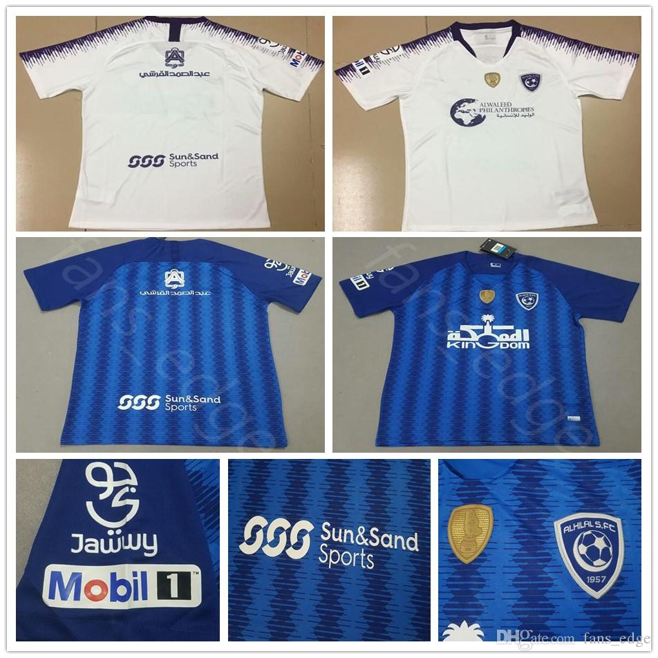 2018 2019 Saudi Arabian Club Al Hilal Soccer Jersey CARRILLO HILAL EDUARDO  BOTIA Personalizado Inicio Azul Blanco 18 19 Al Hilal Camiseta De Fútbol  Por ... d8ce80b300a1d