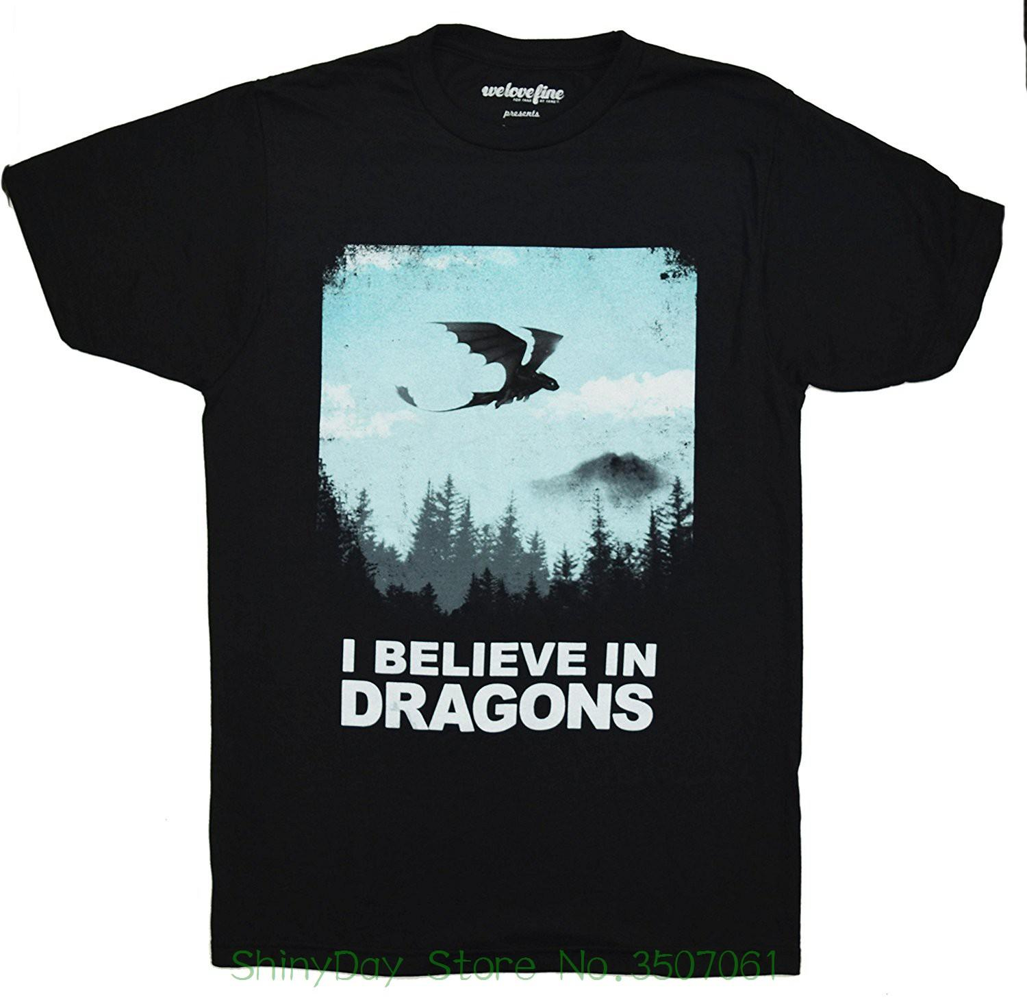 4325a4e6 Tee Shirt Mens 2018 New Tee Shirts Printing Dreamworks How To Train Your  Dragon Want To Believe T Shirt Rude T Shirts Shirt Online From  Shinydaystore, ...