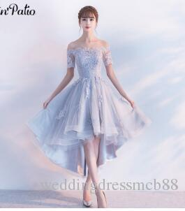 7918df8b21 PotN'Patio Off The Shoulder With Cap Sleeves Silver Bridesmaid Dresses 2017  New High Low Bridesmaid Dresses Luxury Appliques