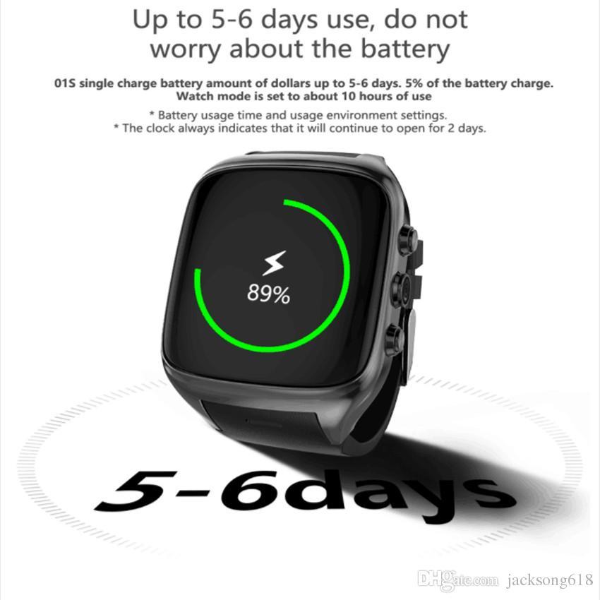 Mais novo X01S HD Câmera Quad Core Smartwatch 3G Cartão SIM Android 5.1 WIFI Bluetooth Internet GPS À Prova D 'Água Wearable Relógio Inteligente 5 pçs / lote