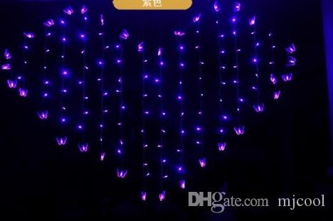 128Led 2M*1.6M flashing lights stars romantic proposal creative layout color butterfly pendant birthday room decor