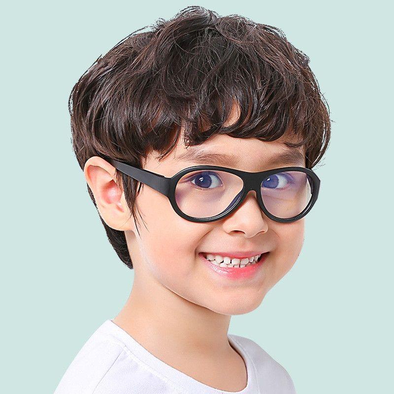 33d5696c5f Compre Moda Para Niños Gafas Para Computadora Niños Girlsanti Blue  Radiación De Luz UV400 Protección Ocular Gafas De Silicona Marco De Lentes  Blandas A ...