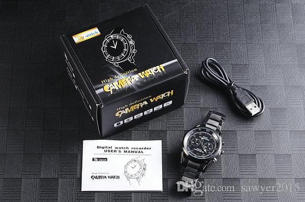 Cámara de reloj HD ultradelgada 1080P 8gb 16gb Visión nocturna resistente al agua Auto reloj abierto Soporte de DVR de seguridad Detección de movimiento en una caja al por menor