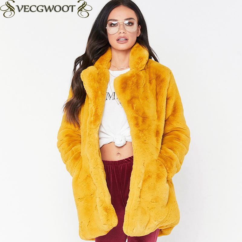 Winter Frauen Plus Größe Faux Pelz Mantel Lange Schlank Verdicken Warme Haarigen Jacke Frauen Mode Warme Outwear Künstliche Pelz Mantel