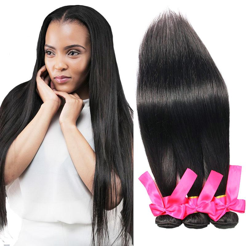 Top Straight Brazilian Remy Human Hair Weave Silky Straight Weaves Natural  Black Cheap Brazilian Human Hair Bundles For Black Women Hair Wefts  Extensions ... 497568e127