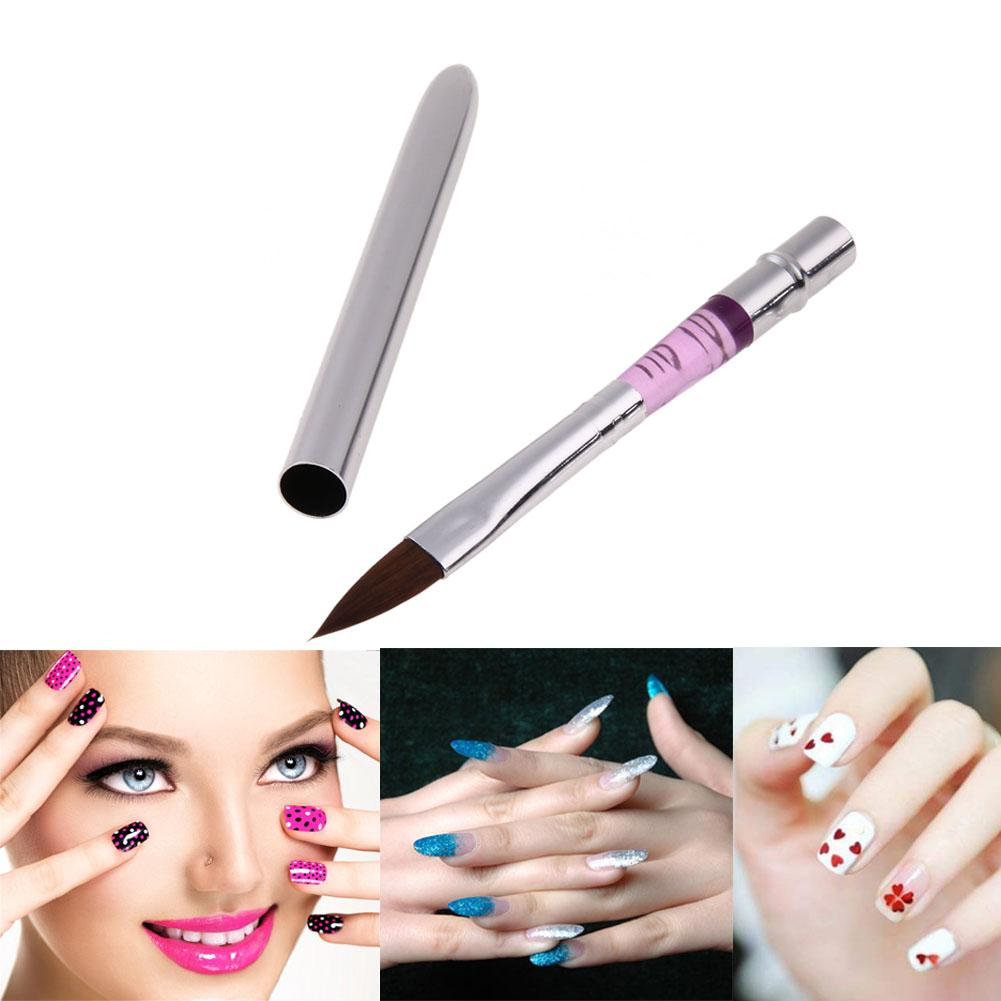 1Pcs Nail Art Pen Brushes Painting Drawing UV Gel Crystal Acrylic Liquid Powder Carving Builder Manicure Nail Brushes Tool