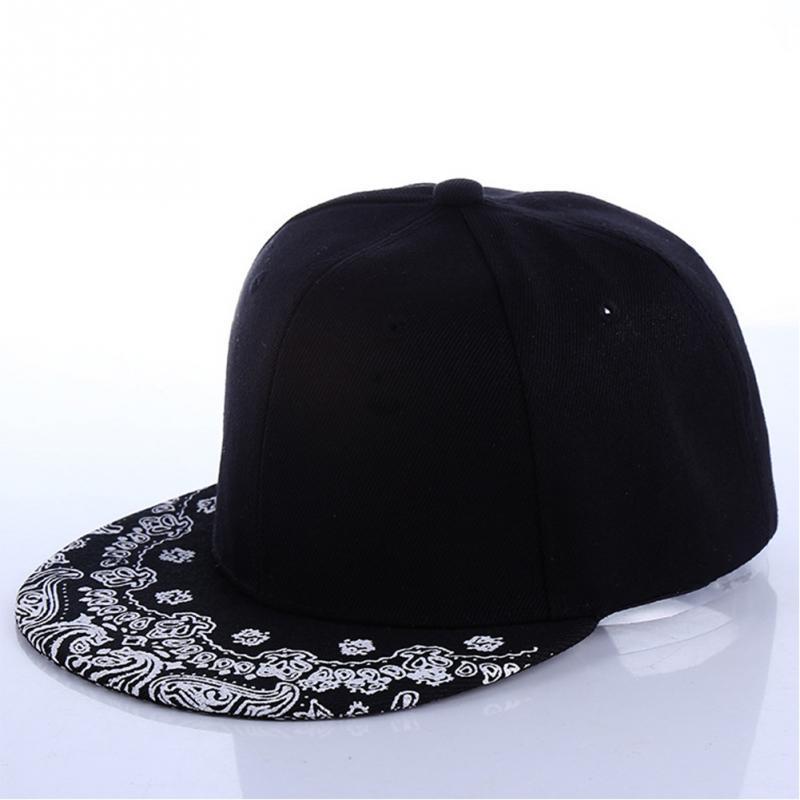 2145e9bf5c4 White Paisley Pattern Black Hat New Fashion Man Women Summer Baseball Cap  Sun Hat Adjustable Hip Hop Snapback Caps Men Hats Zephyr Hats From Heheda1