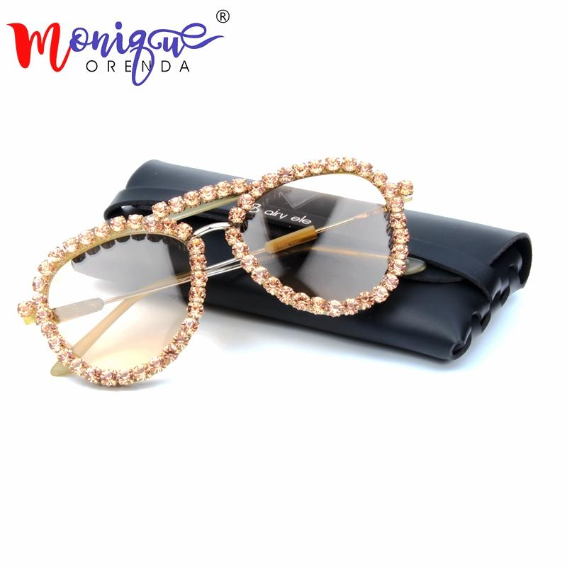cc68efca18 2018 Sunglasses Women Cat Eye Sunglasses Vintage Clear Lens Glasses ...
