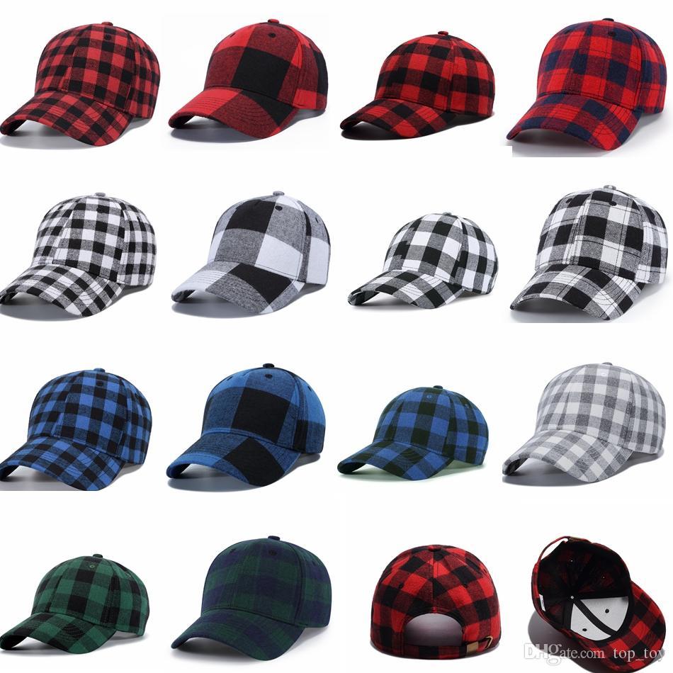 939a5e9fc9d3c Compre Xadrez Chapéu Boné De Beisebol Manta De Algodão Snapback Caps Unisex  Hip Hop Cap Ajustável Casual Ao Ar Livre Headwear Chapéus 14 Cores GGA1079  De ...