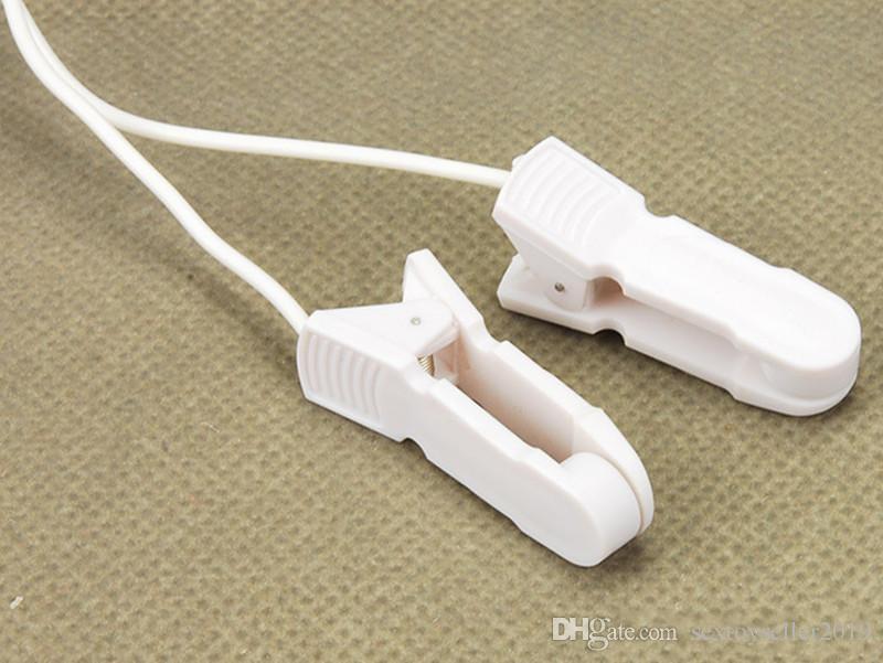Equipo de terapia en el hogar Abrazaderas de pezones Clips de pezones de descarga eléctrica Conjunto Mujer Masajeador de senos Pulso Terapia física Juguete para mujeres