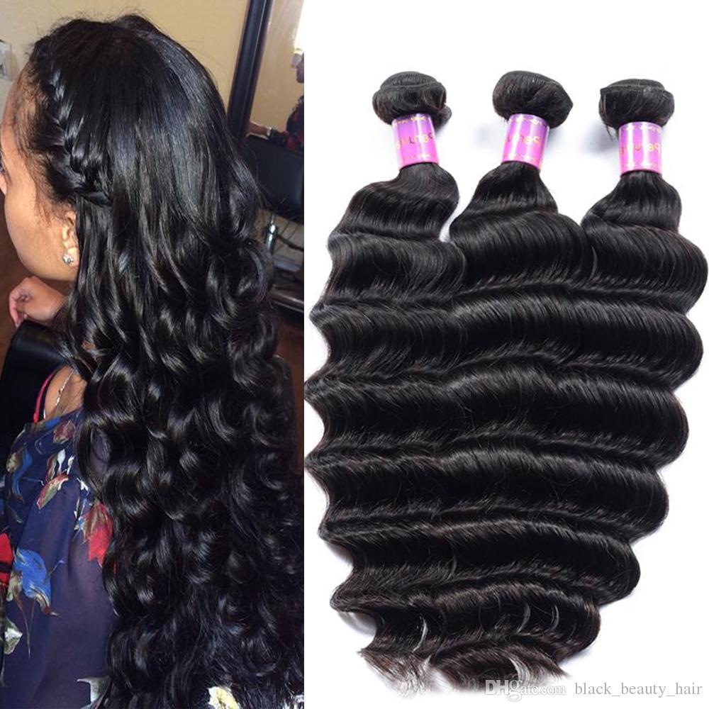 Wholesale Peruvian Loose Wave Hair Loose Deep Wave Weave Hair Styles