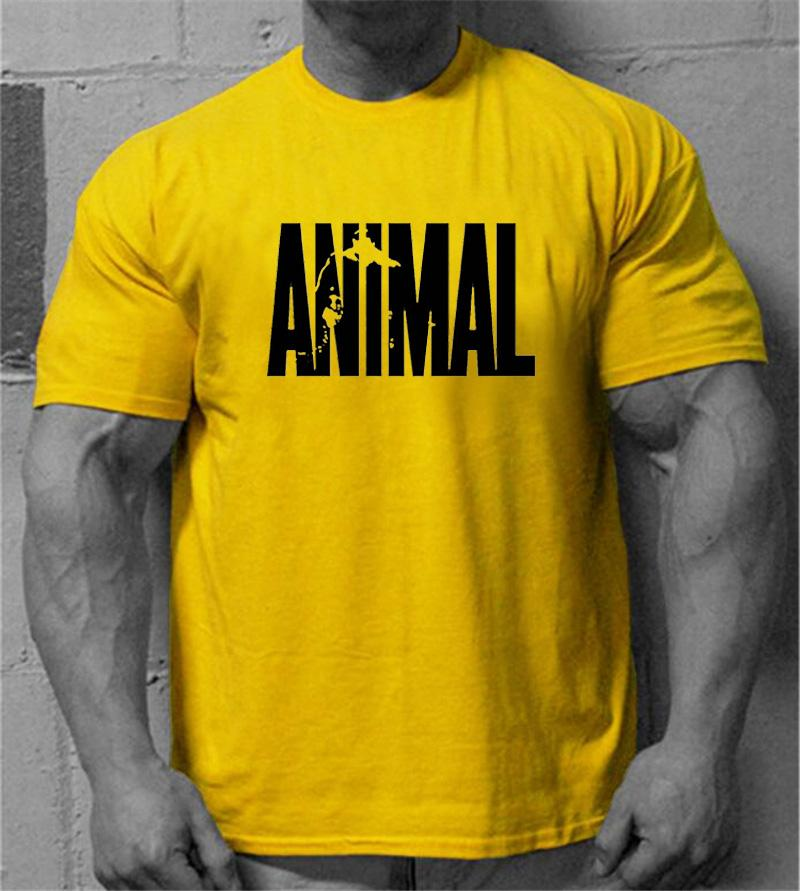 3e01fa41 Muscleguys Brand Men's Animal Gyms Shirts,GOLDS NPC POWERHOUSE Wear T Shirt  Men Fitness Bodybuilding Workout Clothes 100% Cotton