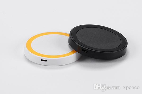 Caricabatterie telefoni cellulari con caricabatterie wireless a colori iPhone Samsung galaxy Ricevitore ricevitore ricevente adattatore universale Caricabatterie telefono veloce
