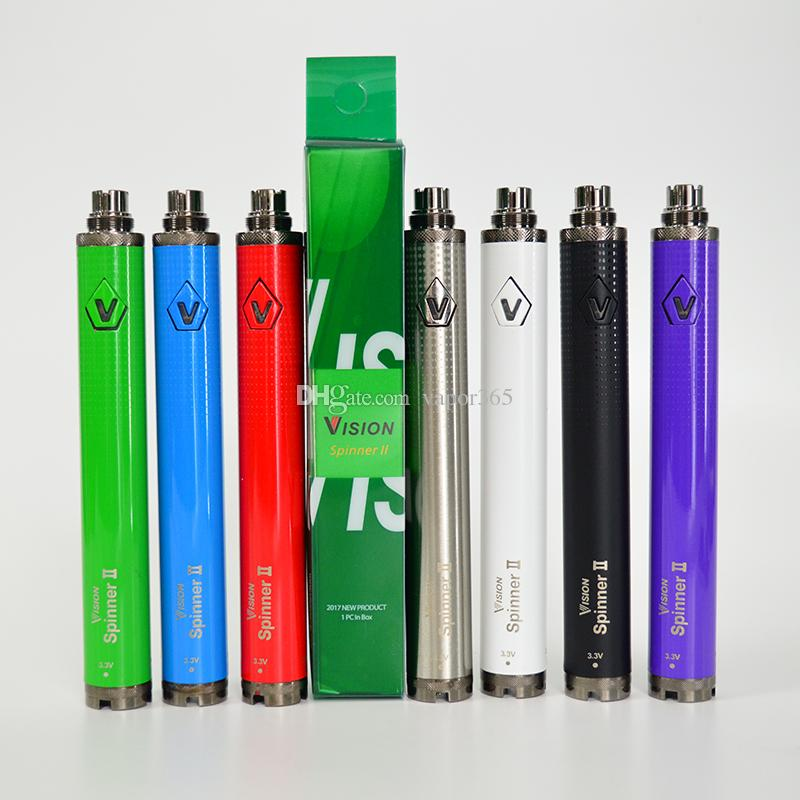 Vision 2 Vape Pen Battery Cartridge Battery 1650mah 510 Thread Battery  E-Cigarettes 3 3-4 8V Adjustable Voltage Vaporizer Wax Pen Ecig Vape