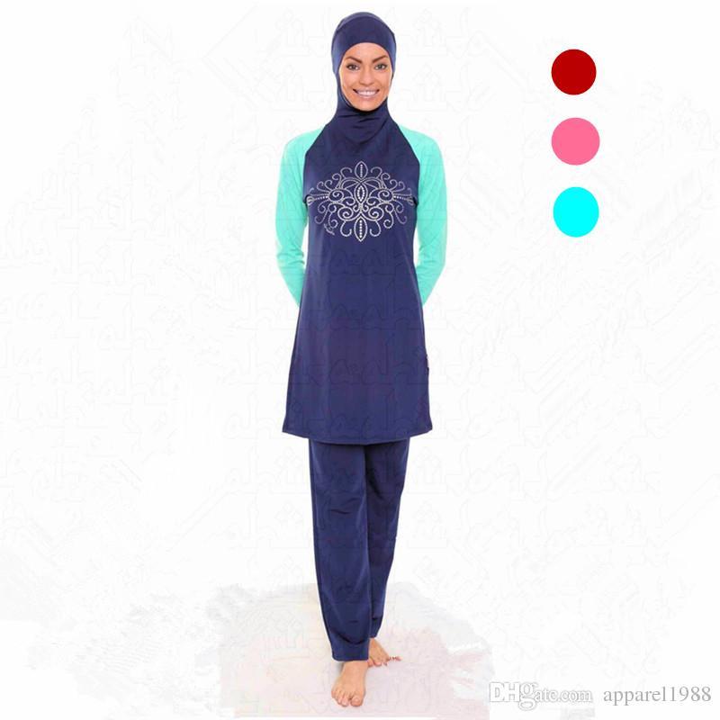d64606c750 2019 * Girls * Modest Swimwear Kids Swimsuit Muslim Islamic Beachwear NEW  .Size :S/M/L/XL/XXL/XXXL/4XL From Apparel1988, $27.34 | DHgate.Com