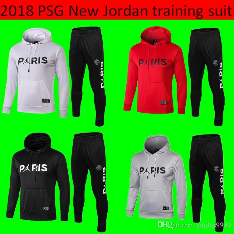 2018 Men Third Hoodie PSG Soccer Training Suits 18 19 New Paris ... 11127446e