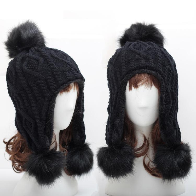 Winter Women s Wool Hats Women s Hats Fall And Winter Models Warm ... c6b80daed872