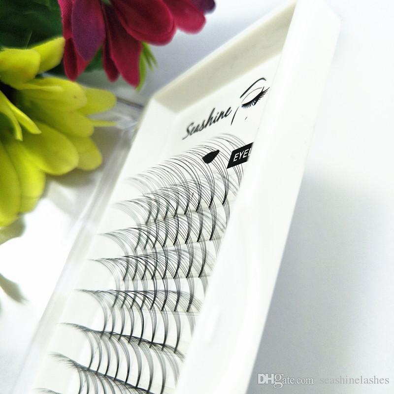 Seashine 100% vraiment 5D tige courte extension de faux cils belle cils de soie yeux cils super doux cils de marque privée