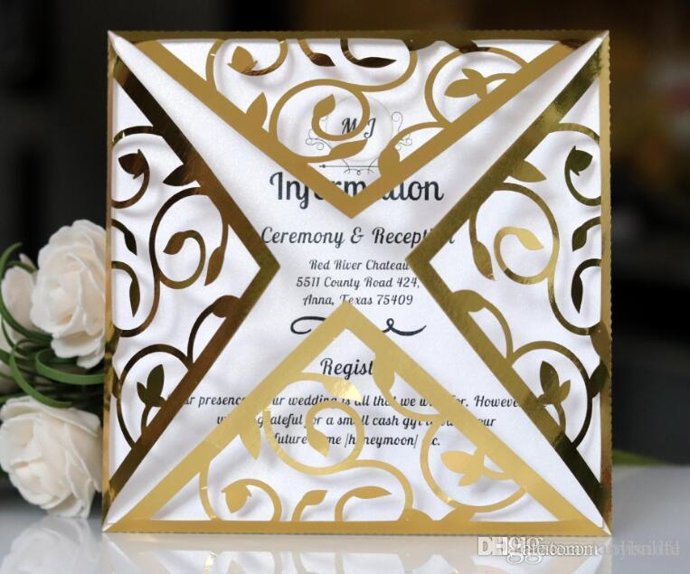 2018 luxury gold party invitations free printing party invitation