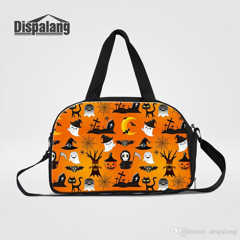Personalized Design Travel Bags For Traveling Top Quality Canvas Duffle Bag  For Women Halloween Pattern Men Luggage Weekend Trip Handbag Bag Duffle Bags  ... 9b730eb6fc