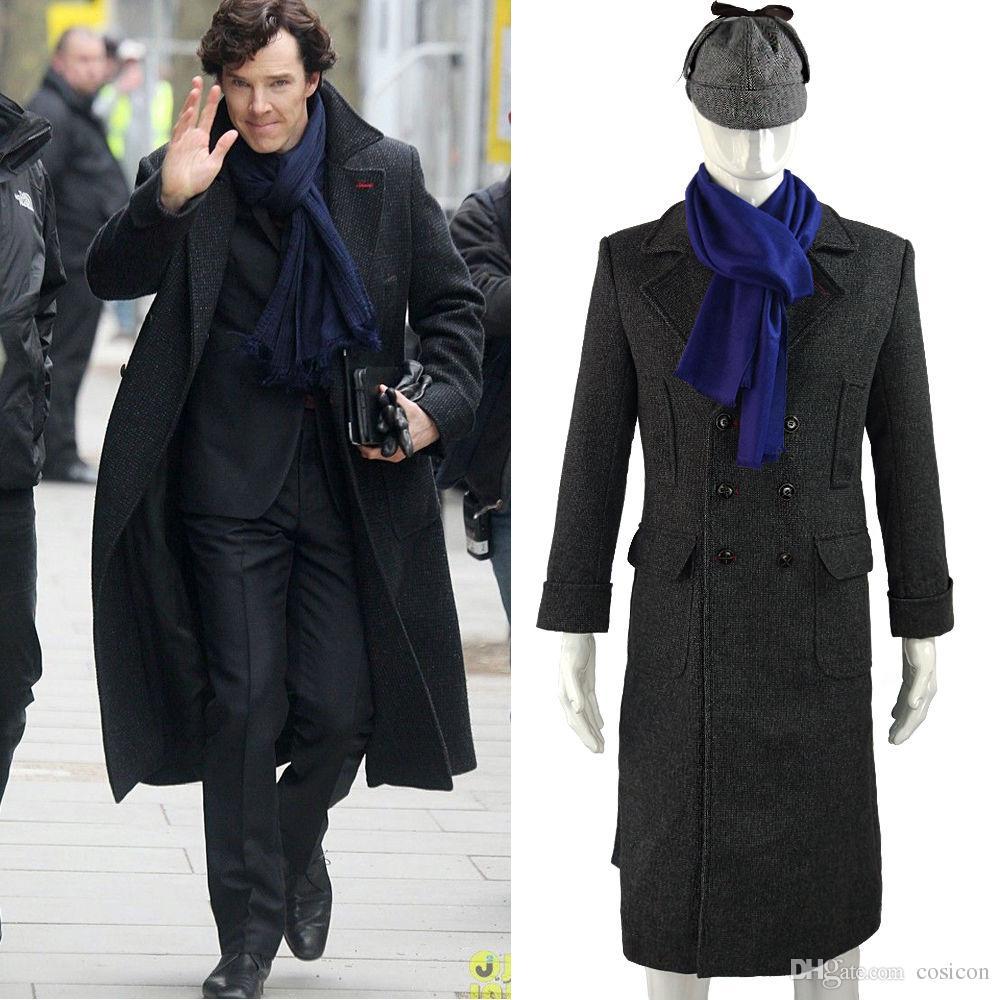 Sherlock Holmes Tv Long Wool Winter Mens Cape Coat Jacket Cosplay ...