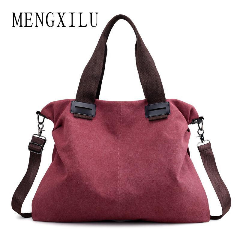 dbd3a94ddf MENGXILU Big Canvas Bags Handbag Women Famous Brand Designer High Quality  Casual Totes Bag Ladies Shoulder Bolsa Feminina 2018 Handbags Brands Womens  ...