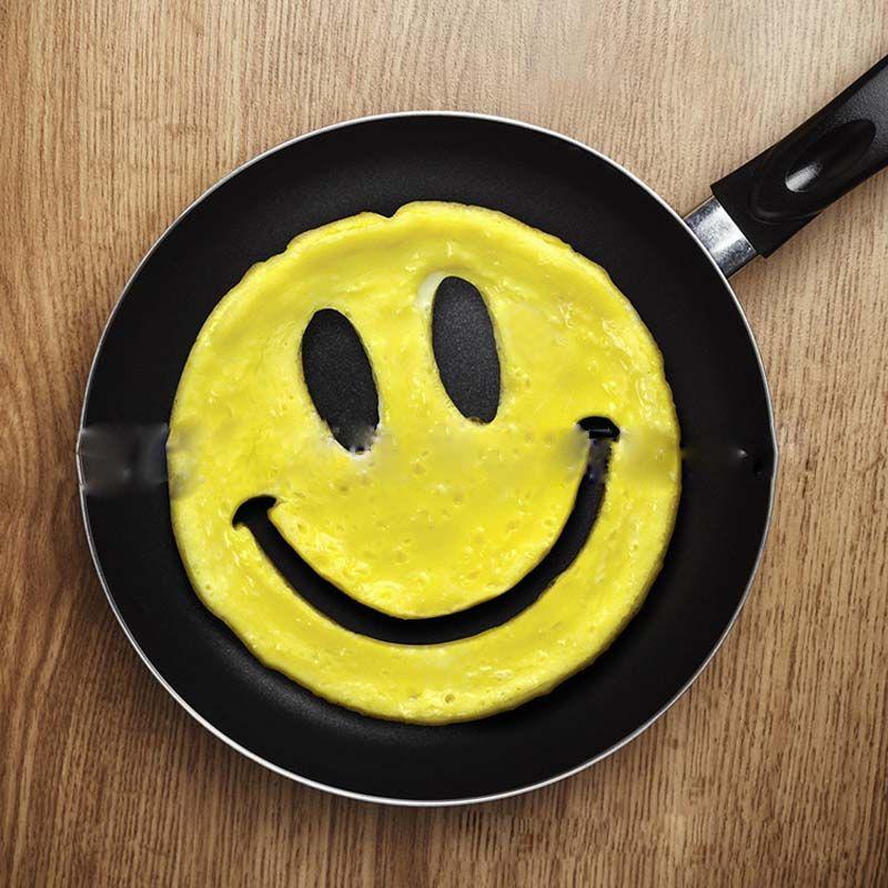 Smiley Visage Moule À Oeufs En Silicone Sourire En Forme De Crêpes Omelette Dispositif Oeuf Outil Cuisine BRICOLAGE Creative Moule À Oeufs Frits