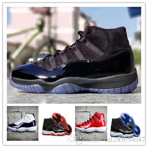 2018 11 Prom Night Black Win Like 96 Win Like 82 Basketball Shoes Men Women  Gym Red/Black White 11s Sport Shoes Trainers Sneakers With Box Sports Shoes  ...