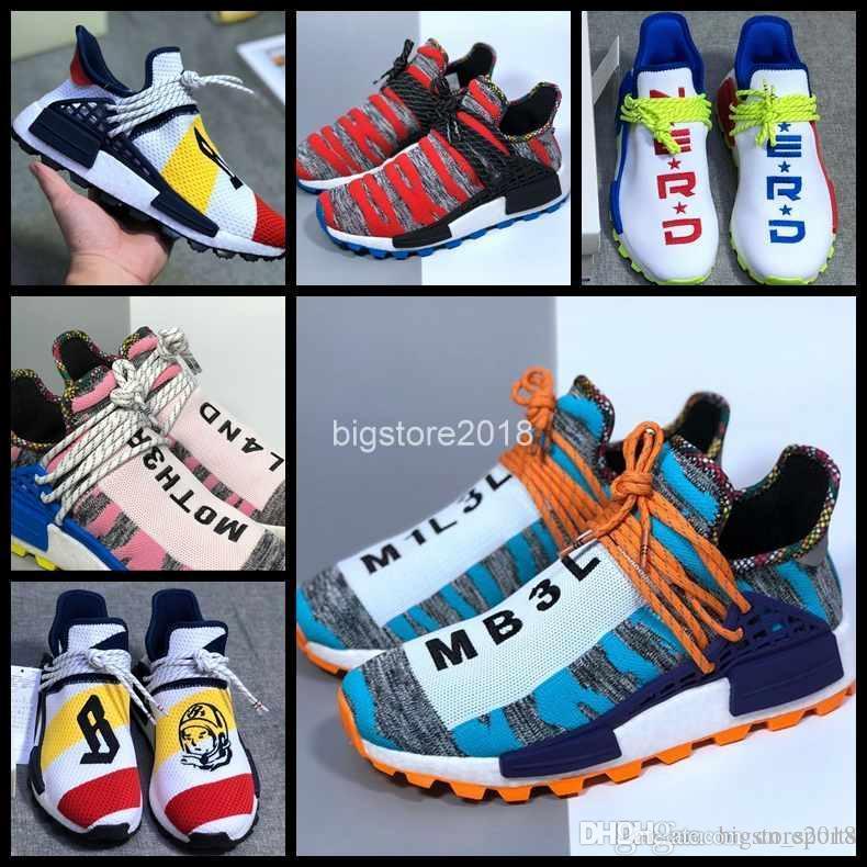 1f0d2feb5 Cheap 2018 New Human Race Afro Hu Trial Solar Pack Pharrell Williams Men  Running Shoes NERD White Womens Trainers Sports Sneaker Chausseures