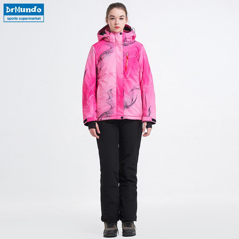 03704efa10 2019 2018 New Winter Ski Suit Women S Waterproof Skiing Ski Wear Windproof  Snowboarding Coat Outdoor Ski Jacket + Pants Sets Brand From Dragonfruit