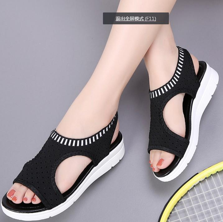 2019 Women Walking Shoes For 2018 Summer New Platform Sandals Shoes  Breathable Comfort Shopping Ladies Walking Open Toed From Simmer 4003115614f1