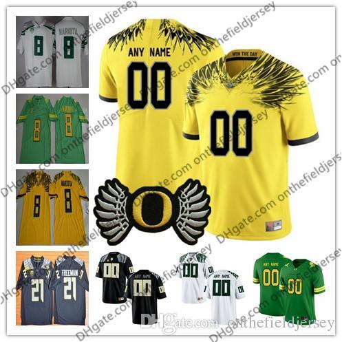 2019 Custom Oregon Ducks College Football  6 DeAnthony Thomas 8 Marcus  Mariota 21 Royce Freeman 24 Kenjon Barner Any Name Number Jerseys S 3XL  From ... 45c452a09