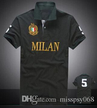Поп Милан Париж Дубай Майами Лондон Сити классический повседневная рубашка поло лето мужчины хлопок с коротким рукавом рубашки поло большая лошадь поло
