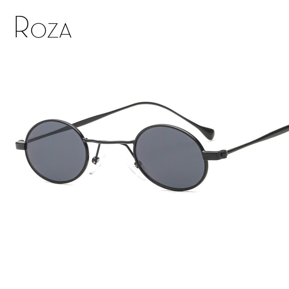 caca3a87aa02ae Großhandel ROZA Sonnenbrille Für Männer   Frauen Schmale Ovale Linse Trend  Langstrahl Marke Designer Spiegel Objektiv Rot Farbe Sonnenbrille UV400  QC0600 ...