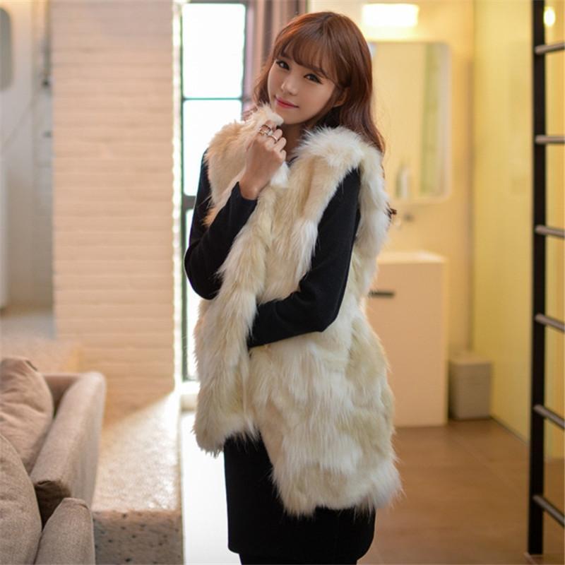 1143891b325 2019 Winter Warm Smart Casual Faux Fur Vest Jacket Coat Long Waistcoat  Outerwear Women Ladies For Women FF007 From Maoyili, $34.21 | DHgate.Com