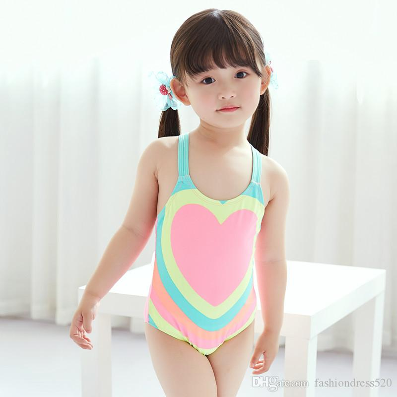 fb5f8ee7b63 Girls Swimwear Colorful Printed Pattern 9 Styles Kids One Piece Swim wear  Bathing suit Children Swimming wear 1-10 year free DHL