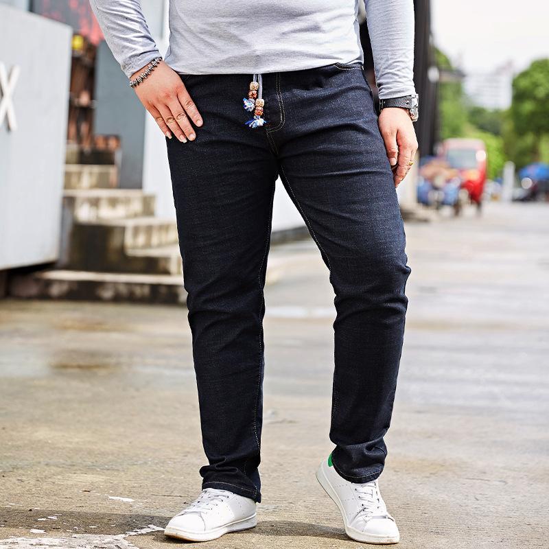130e10319 Compre Tamanho Extra Grande Calça Jeans Cintura Elástica Masculina Stretch  Jeans 48 Metros Calças De Gordura Calças Dos Homens Tamanho Grande De  Redbud03, ...