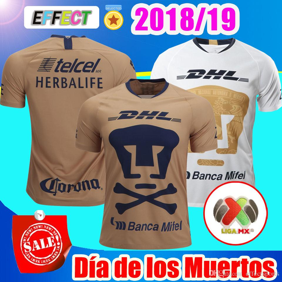 94da6a2f66 2019 2018 2019 Mexico Club Camiseta UNAM Día De Los Muertos Home 18 19  Soccer Jerseys Van Rankin Castillo LIGA MX Football Shirt From  Effectsports