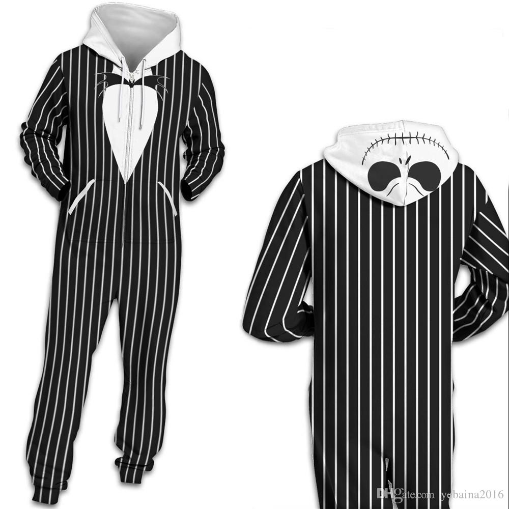 299619c12d56 Qybian 2018 New Autumn Black White Stripe Printed Jumpsuit Female ...