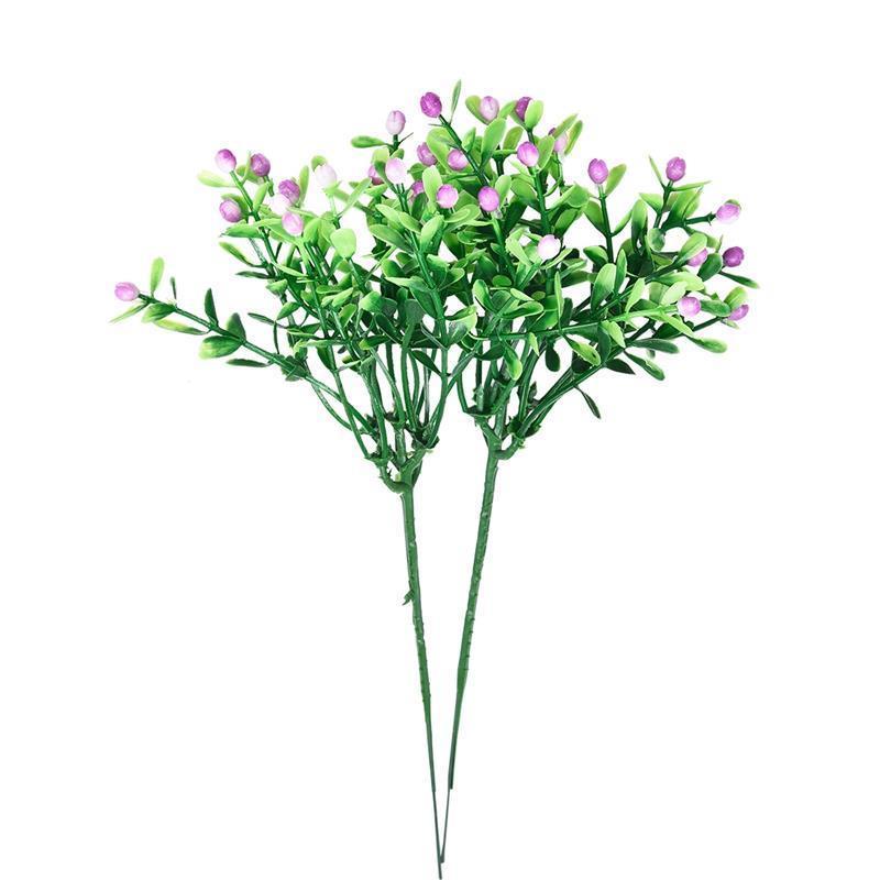 Simulation Artificial Flower Milan Grain Plastic Flower Grass Green Plant Grain Wedding Party Garden Home Decoration