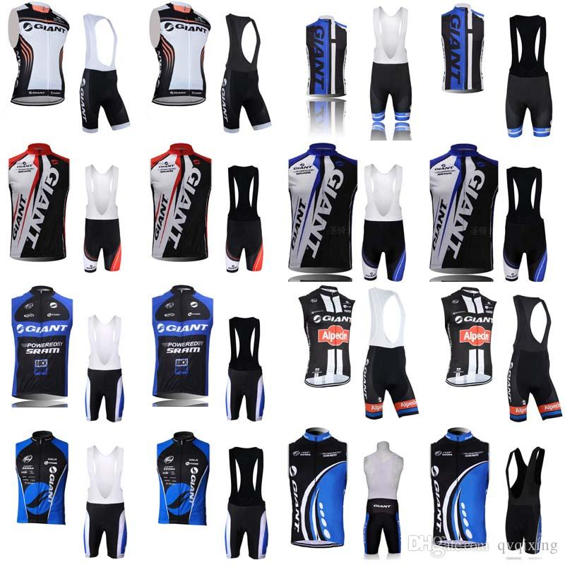 9bde6f05 GIANT team Cycling Sleeveless jersey Vest (bib)shorts sets Summer road bike  clothing outdoor cycling comfortable and breathable F0307