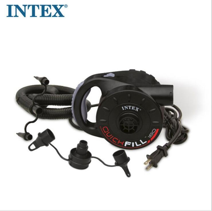 intex rechargeable pump electric inflatable air pump for inflatable Boat Kayak air bed mattress High power AC/car 12V