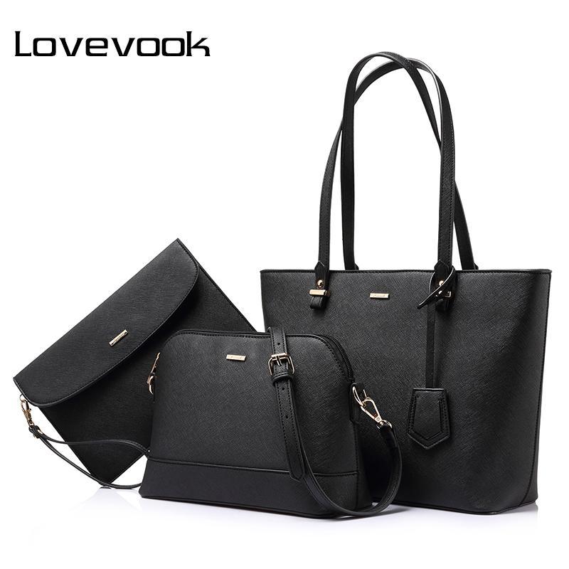 e62df63978b6 Lovevook Brand Handbag Women Composite Bag Female Large Capacity Tote Bag  Fashion Shoulder Crossbody Bag Small Purse Composite Bag Tote Bag Crossbody  Bag ...