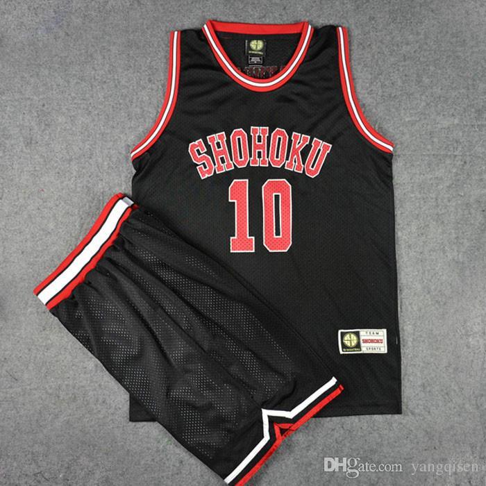 Anime Slam Dunk Shohoku Basketball Sakuragi Hanamichi Cosplay Uniform Jersey Slam Dunk NO.10 Jersey Power Forward Clothes Sport
