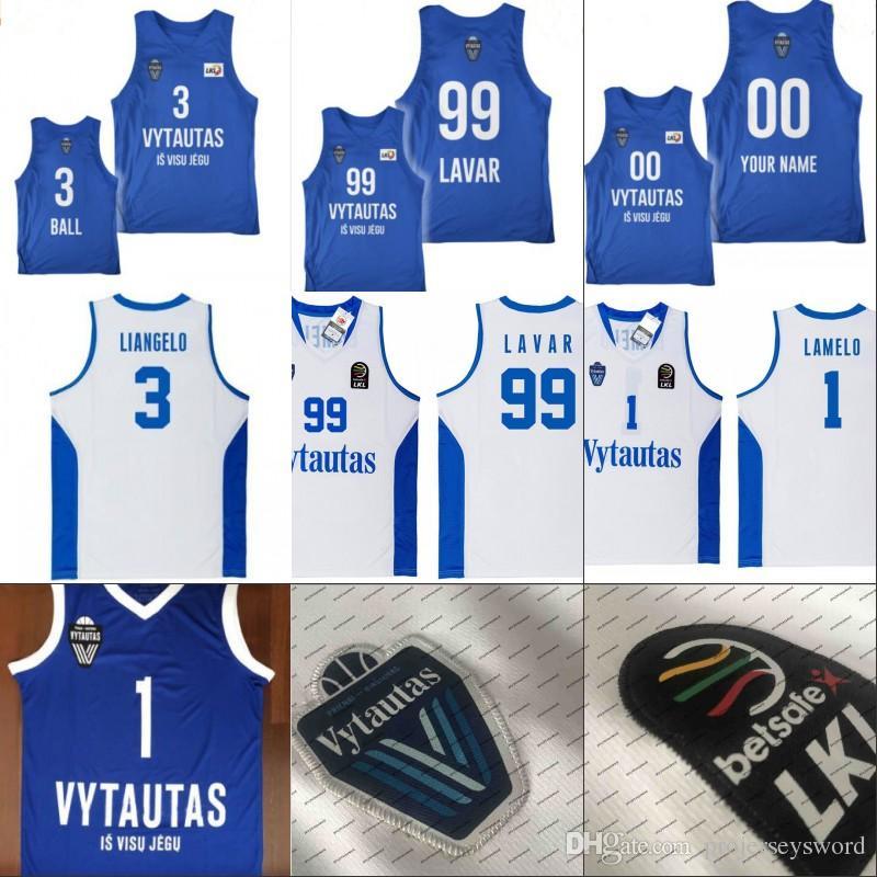 479b86cd002 2019 Men NCAA Lithuania Prienu Vytautas Basketball Shirt 1 Lamelo Ball 3  Liangelo Ball Uniform 99 Lavar Ball 100% Stitched Basketball Jerseys From  ...